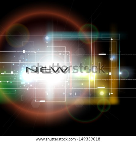 New technologies. Stylish conceptual vector background - stock vector