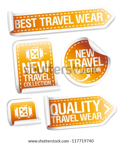 New travel wear collection stickers set.
