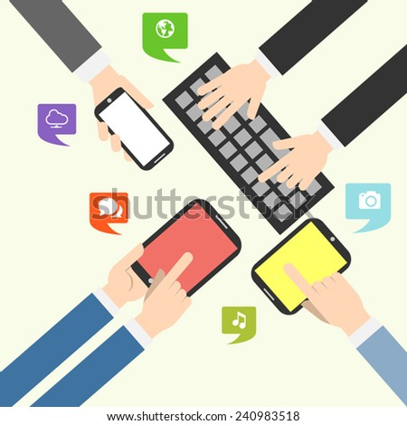 New Update Applications and Devices. Vector illustration EPS10. - stock vector