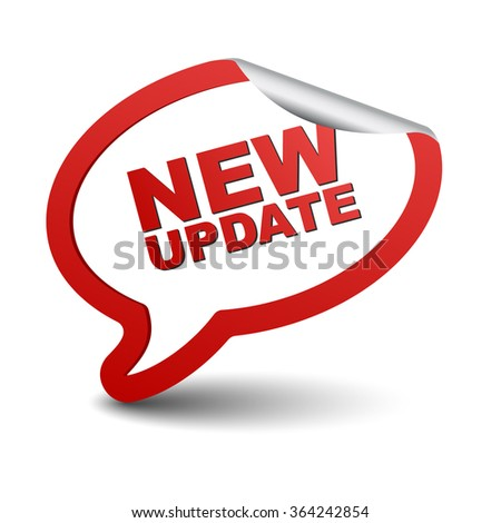 new update, red vector new update, red bubble new update, sticker bubble new update, element new update, sign new update, design new update, picture new update, illustration new update, new update eps