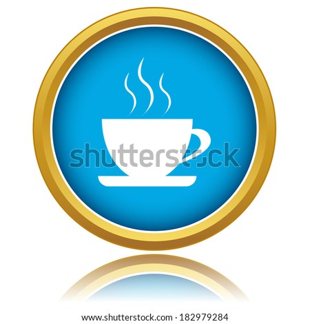 New vector illustration of isolated coffee icon - stock vector