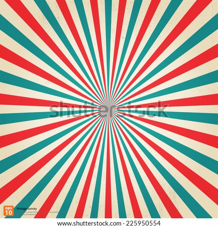 New vector Vintage christmas Festival rising sun or sun ray,sun burst retro background design - stock vector