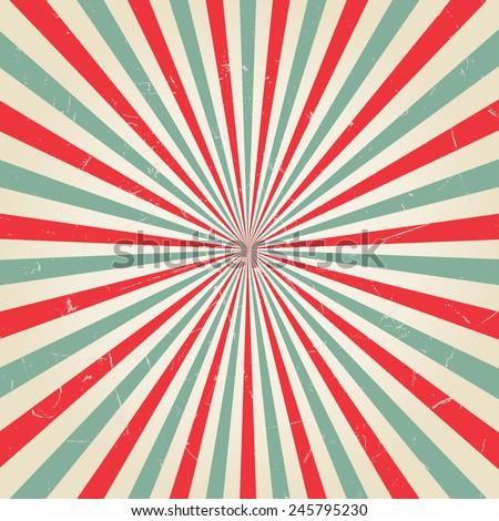 New vector Vintage Red rising sun or sun ray,sun burst retro background design - stock vector