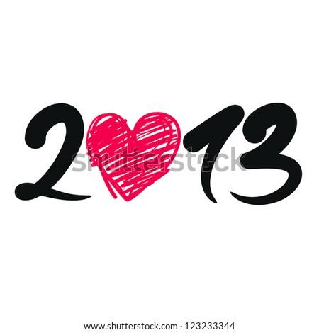 new year - stock vector