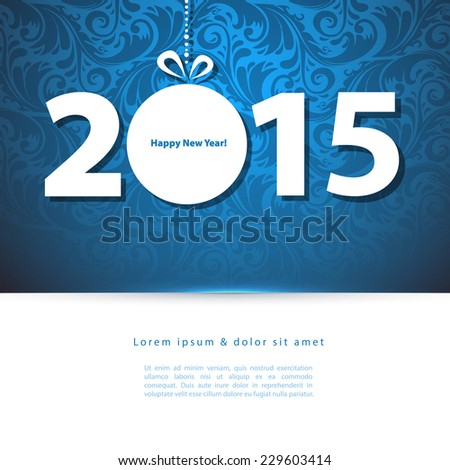 New year 2015 - stock vector