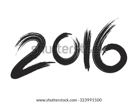 New year 2016 - stock vector