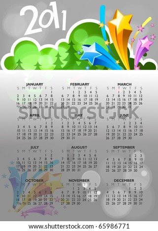 new year abstract 2011 with colorful design. Vector illustration