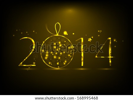 New Year 2014 background - stock vector