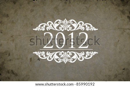 New 2012 year background. - stock vector