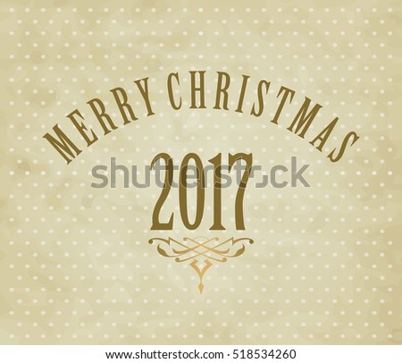 New Year background for Christmas card, vintage style