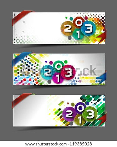 New year 2013 background for new year banner/header design. - stock vector
