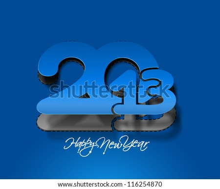 New year 2013 background for new year paper calender design. - stock vector