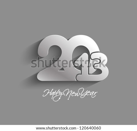 New year 2013 background for paper folding with letter design. - stock vector