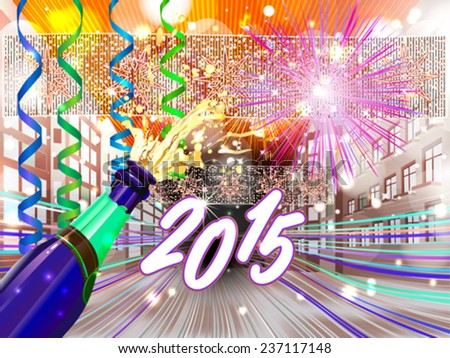 New Year background for your message - stock vector