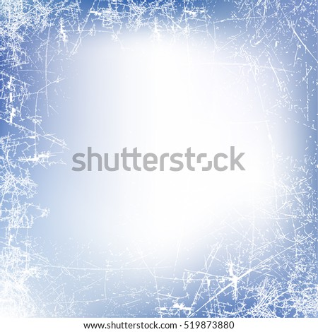 New Year background. Frosted glass texture. Frosted window. Vector illustration
