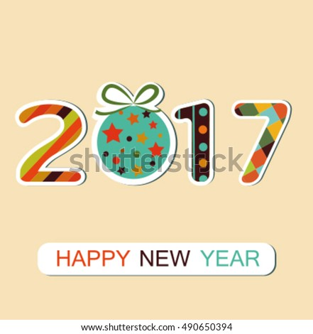 New Year 2017 background. Vector