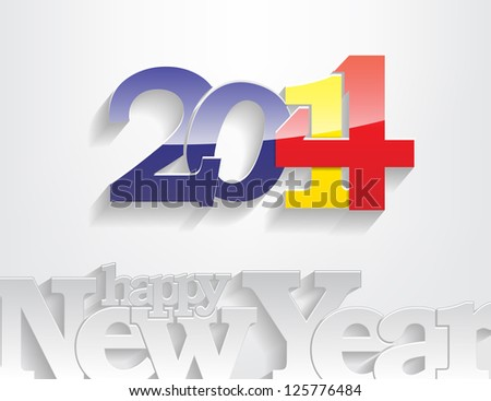 New year 2014 background. Vector illustration - stock vector