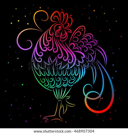 New year bacrground. 2017 new symbol, the rooster.