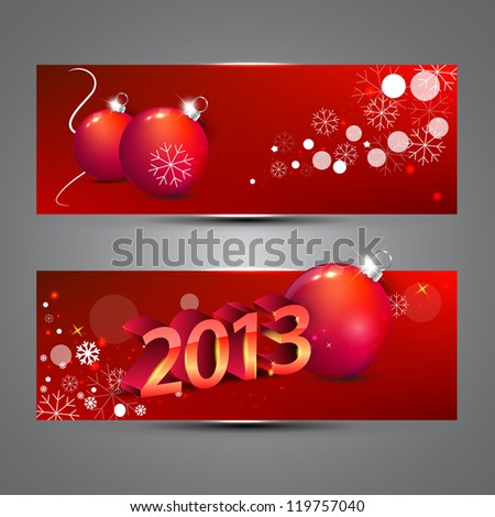 New year banners vector illustration - stock vector