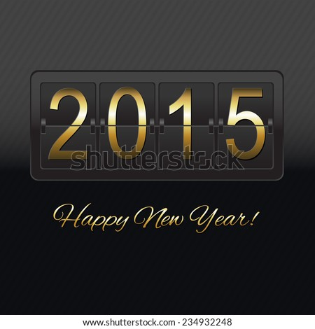 New Year Black Counter, Vector Illustration
