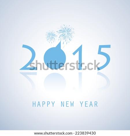 New Year Card - 2015 - stock vector