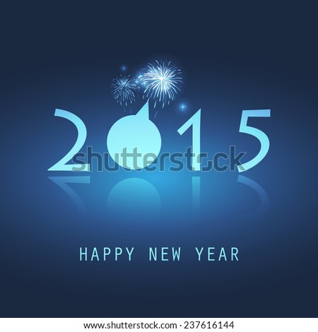 New Year Card - 2015 - stock vector