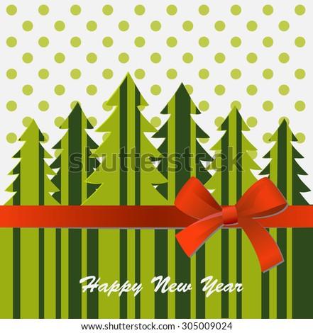 New year card - stock vector