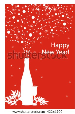 New Year card #2 - stock vector