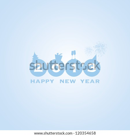 New Year Card Background - stock vector