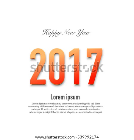 New year 2017 card  - vector eps 10 illustration