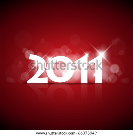 New Year card 2011 with back light and place for your text - stock vector