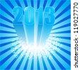 new year 2013 celebration, 3d conceptual illustration, calendar cover - stock