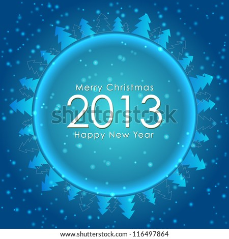 New year celebration poster 2013. Ideal for greeting card, postcard or party invitation backgrounds. Vector background. - stock vector