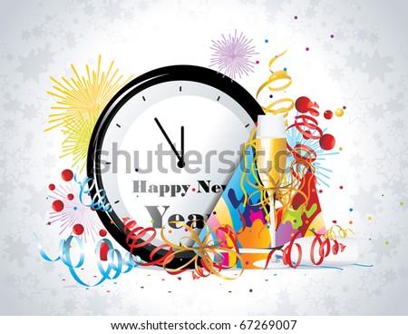 new year celebration vector - stock vector