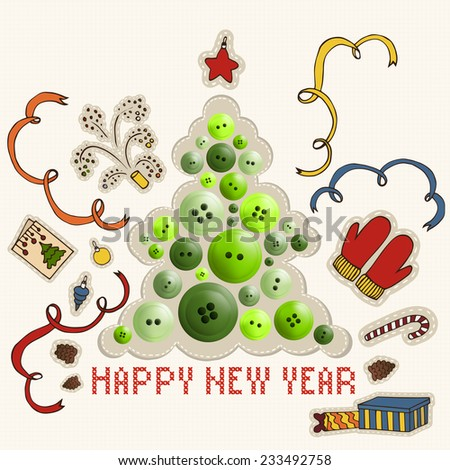 New year, christmas. Elements (cloth) - stock vector