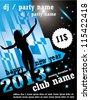 New year 2013 club party flyer, poster. EPS10 vector illustration, text converted to outlines - stock photo