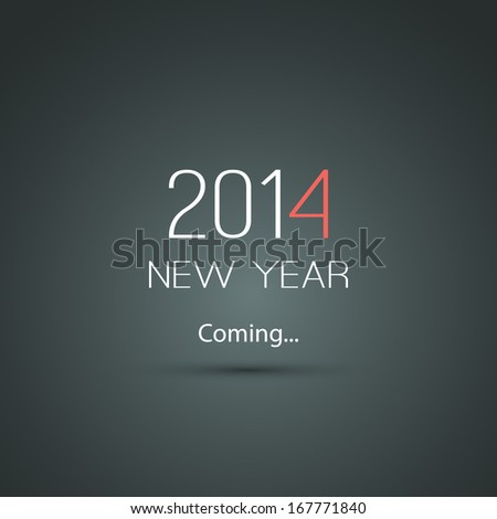New Year Coming - 2014 - stock vector