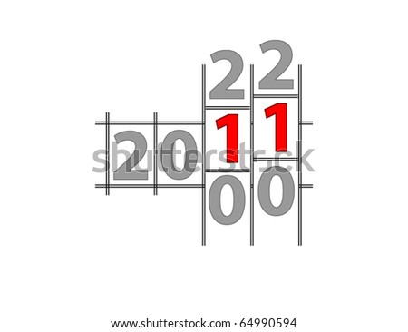 New Year counter. Vector. - stock vector