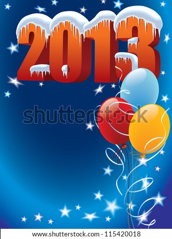 New Year decoration ready for posters and cards - stock vector