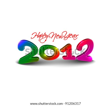 new year 2012 design element. Vector illustration
