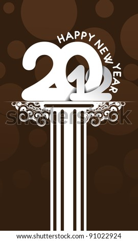 new year 2012 design for event poster use. - stock vector