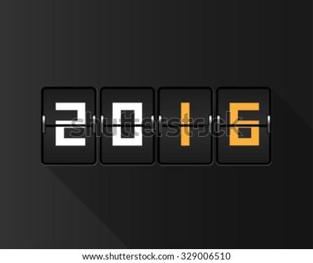 New Year flip board - stock vector