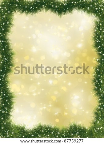 New year frame with copy space. EPS 8 vector file included - stock vector