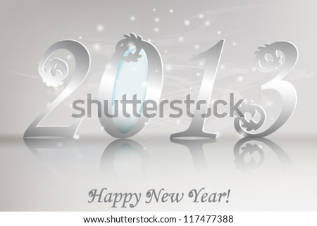 New 2013 year greeting card. Vector illustration, lucky 2013, happy new year. - stock vector