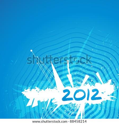 New year grunge design - stock vector