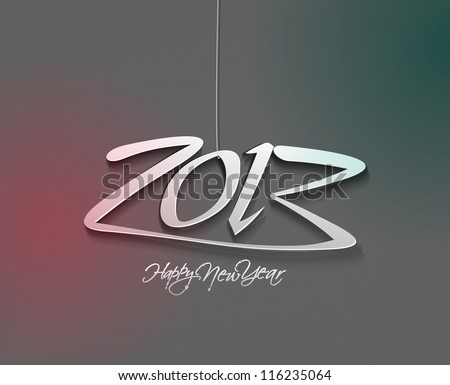 new year 2013 in white background. Vector illustration - stock vector
