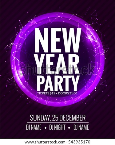 New Year Party Christmas Party Poster Stock Vector 516735850