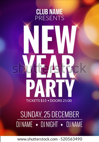 New Year Party Design Banner Event Stock Vector   Shutterstock