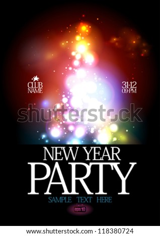 New Year Party design template. Eps10. - stock vector