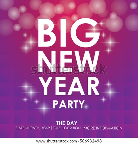 New Year Party Christmas Party Poster Stock Vector 543935170